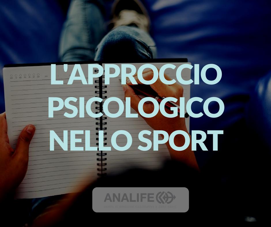 L'approccio psicologico nell'atleta