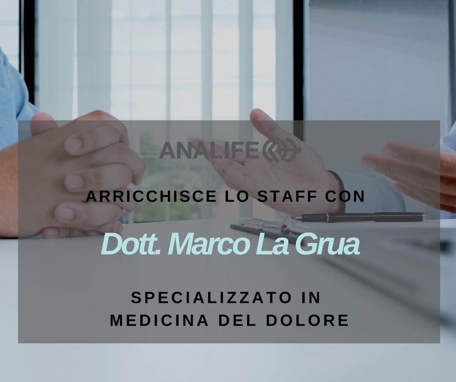 Dott. Marco La Grua specializzato in medicina del dolore